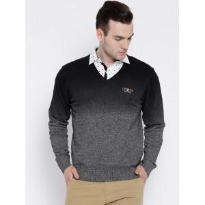 U.S. Polo Assn. Grey Ombre Cotton Sweater