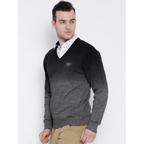 U.S. Polo Assn. Grey Ombre Cotton Sweater