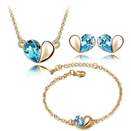 YouBella Heart Shape Pandant ,Bracelet and Fancy Earrings