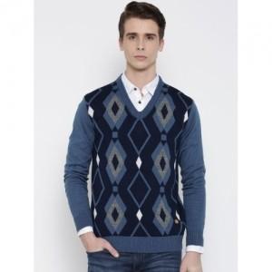 Duke Stardust Blue Patterned Sweater