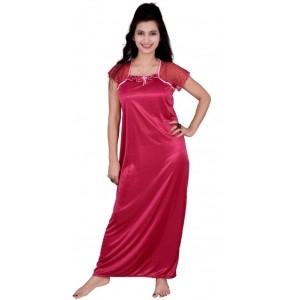 Love Bird Pink Solid Women s Nighty 0d95b539f