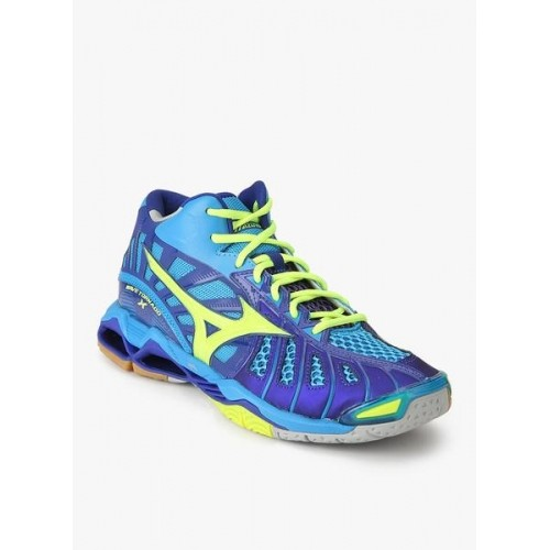 Mizuno Navy Blue Rubber Lace Up Indoor Sports Shoes ...