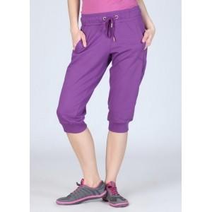 Puma Purple Cotton & Polyester Solid Capris