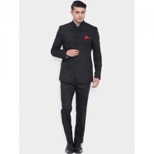 SUITLTD Black Single-Breasted Slim Fit Suit
