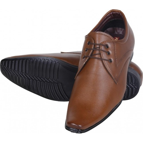 5cdcd052af80 Buy Emosis Tan Synthetic Leather Lace Up Formal Shoes online ...