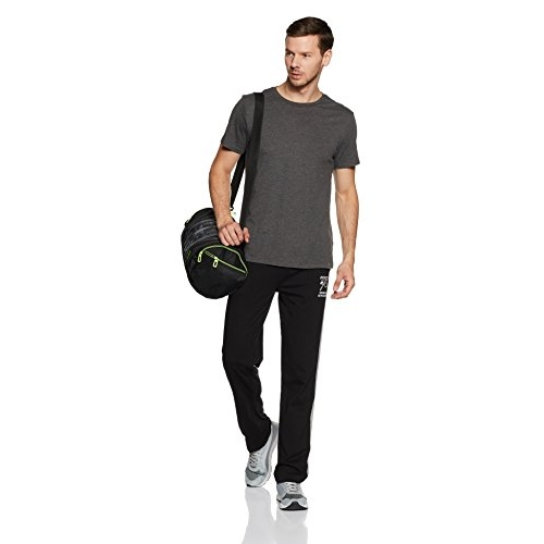 Jockey Black Cotton Solid Track Pants