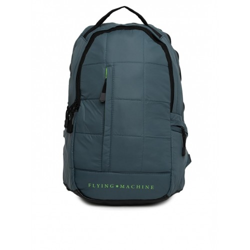 cd4aabd5ec1e Buy Flying Machine Teal Green Polyester Unisex Quilted Backpack ...