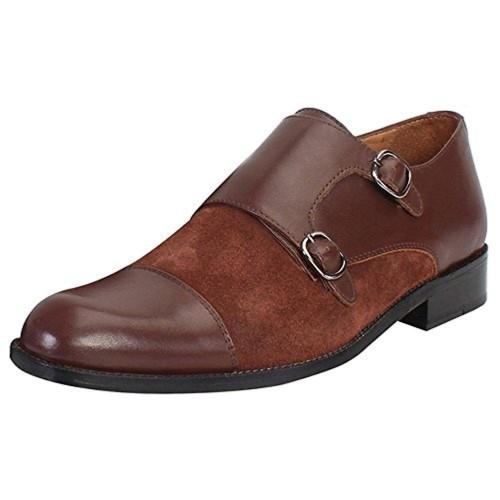 14e1d68c9522 Buy Brune Brown Double Monk Strap Shoes For Men online ...