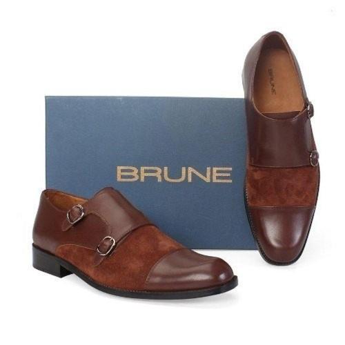 16598bb2da0e Buy Brune Brown Double Monk Strap Shoes For Men online