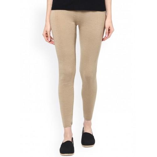 38d03c4c67bbc2 Buy Cayman Beige Ankle-Length Leggings online   Looksgud.in