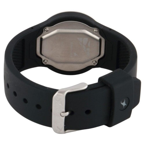 Fastrack Black Casual Water Resistant Round Digital Watch