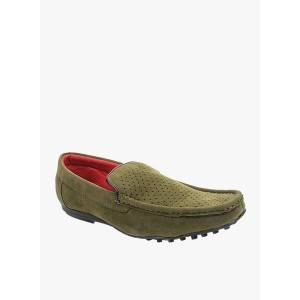 Bacca Bucci Olive Green Suede Leather Moccasins