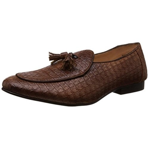 cdec09dd2bb Buy Franco Leone Men s Brown Synthetic Loafers Shoes online ...