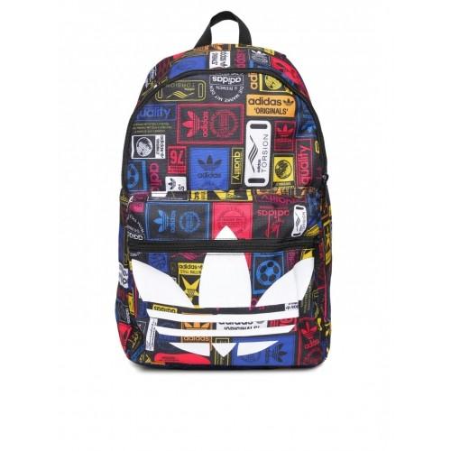 c2854e714f72 ... Adidas Originals Unisex Multicoloured Class TREF Logo Print Backpack ...
