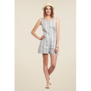Yepme Jenna Blue & Cream Striped Playsuit