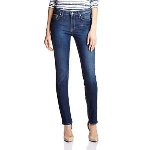 Gas Blue Slim Fit Cotton Elastane Solid Women's Jeans