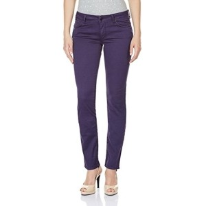 Gas Purple Solid Women's Slim Jeans