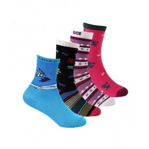 Supersox Multicolour Cotton Casual Socks