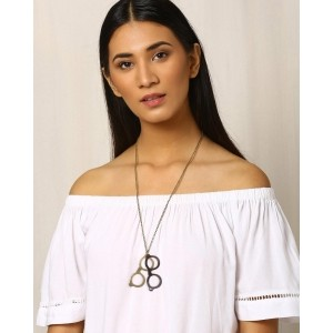 Indie Picks Metal Pendant with Chain
