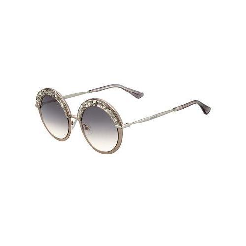 Jimmy Choo Gotha Metal Round Shimmer/Glitter Sunglasses