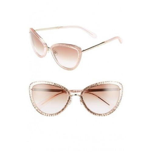 087520280b Kate Spade New York Dusty Pink Klaudia Cat Eye Glitter Sunglasses