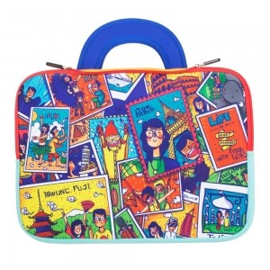 Chumbak Neoprene Multicolot Laptop Sleeve Bag