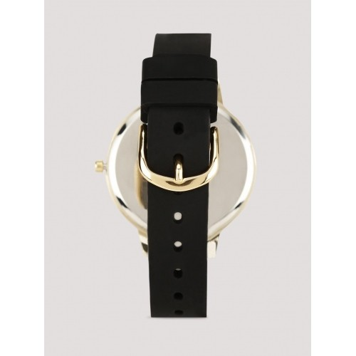 New Look  Black Leather Analog Watch
