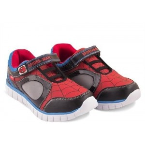 Spiderman Red Leather Printed Shoes