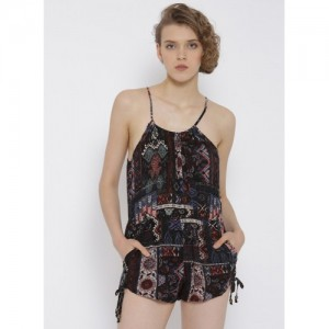 31bd56fc11 Buy Global Desi Black Embroidered Jumpsuit online | Looksgud.in