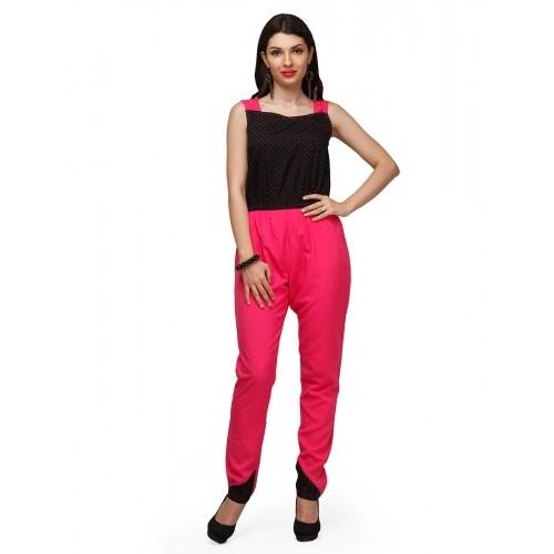 618230b8b422 Buy Eavan Black & Pink Printed Jumpsuit online | Looksgud.in