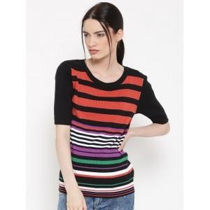 United Colors of Benetton MultiColor Cotton Striped Sweater