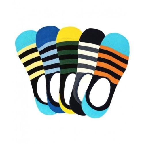 Supersox Men's Anti Slip No Show Socks - Pack of 5