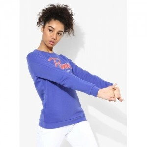 Puma Style Collegiate Blue Cotton Printed Sweatshirt