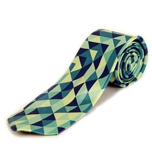Blacksmith Green Abstract Print Tie
