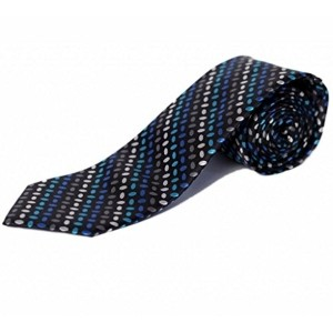 BLACKSMITH Men's Blue Self Design Tie