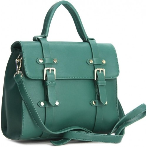 United Colors Of Benetton Green Satchel Bag