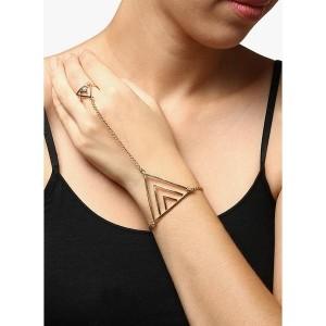 Oomph Golden Alloy Women's Bracelet