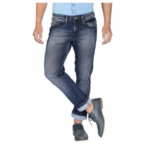 Nostrum Jeans Blue Cotton Slim Fit Jeans
