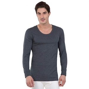 Jockey Gray Combed Cotton Solid Thermal Top