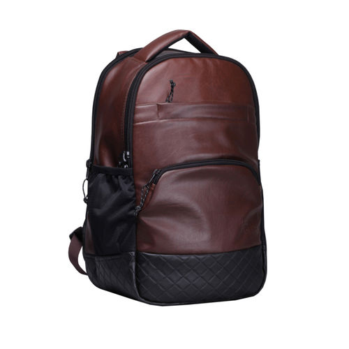 F Gear Maroon & Black Artificial Leather Backpack