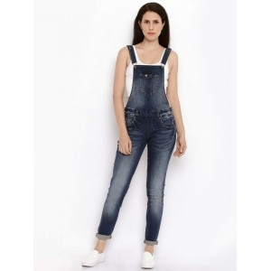 ONLY Women Blue Washed Dungarees