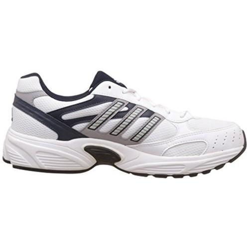Buy Adidas Men's White & Navy Blue Aztek Sports Shoes online ...