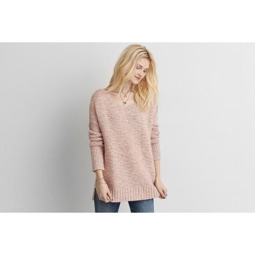 Buy American Eagle Pink Long Sleeve Womens Sweater Online Looksgudin