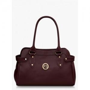 Fostelo Coffee PU Leather Shoulder Bag