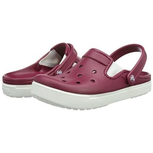 Crocs Mauve & White Rubber Clogs