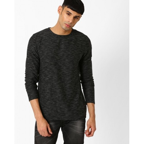 ANOTHER INFLUENCE Crew-Neck Full Sleeves Black T-shirt