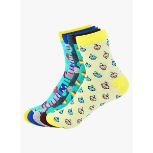 Supersox Pack Of 5 Multicoloured ed Printed Socks