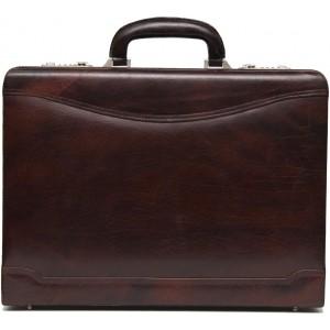 C Comfort Maroon Genuine Leather Briefcase For Men