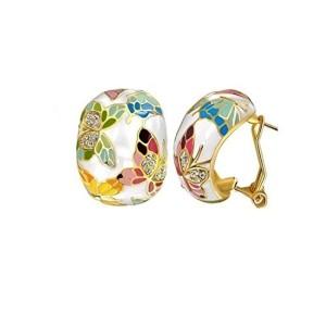Yellow Chimes Swarovski Elements Queen of Versailles Enamel Crystal Earrings