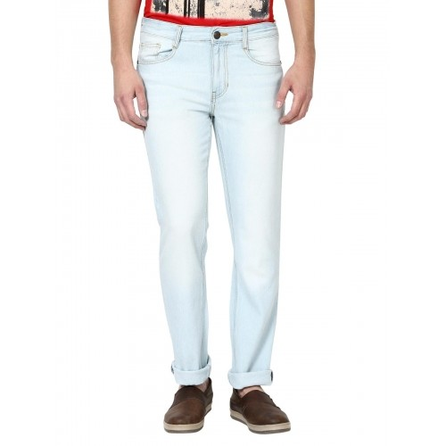 Newport Sky Blue Slim Fit Mid Rise Jeans